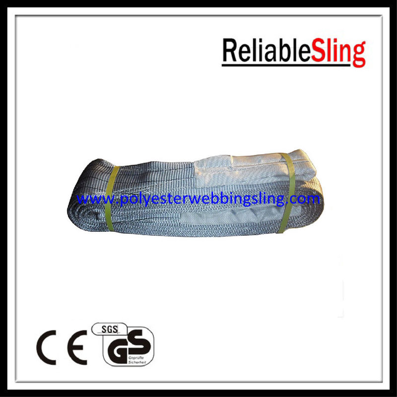 4T Polyester Webbing Lifting Belt Sling with Flat / Reversed / Folded eye En 1492-1