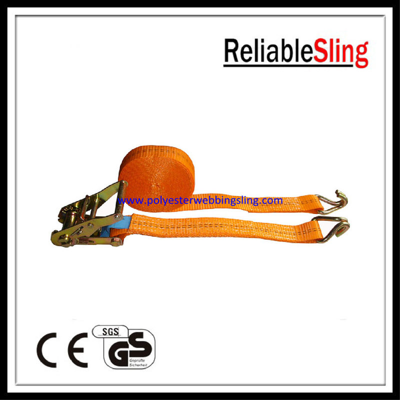 Car hauler / Boat trailer Ratchet Tie Down Strap with hooks 25mm 1.5T