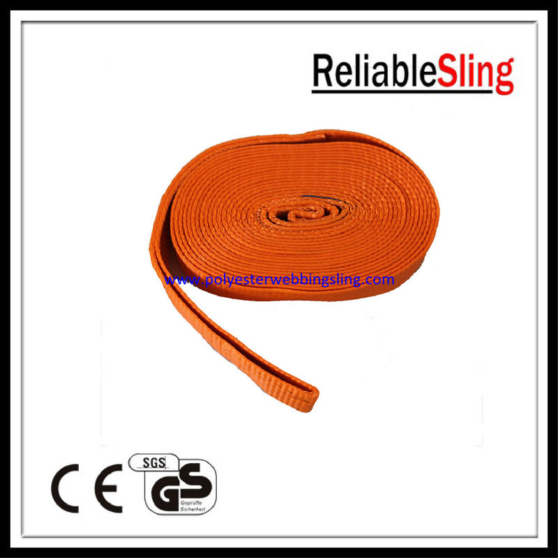 "Single - ply 2"" polyester Loop racing / motorcycle  / car tow strap Orange"