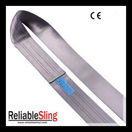 Industrial 100% Polyester Flat / Round Endless Webbing Sling 4 Ton Grey Color