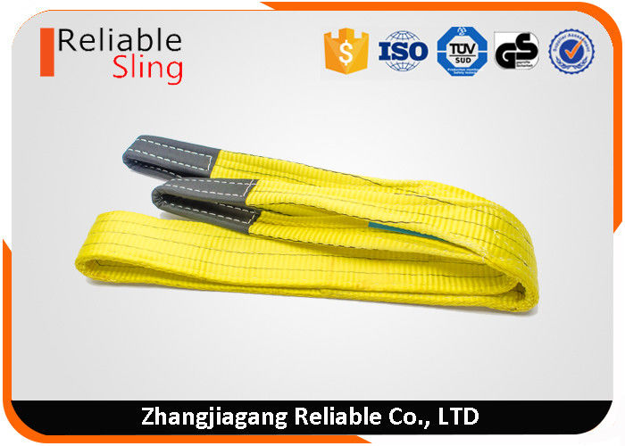 Eye and eye Type Polyester Flat Webbing Sling Belt For Lifting 3ton