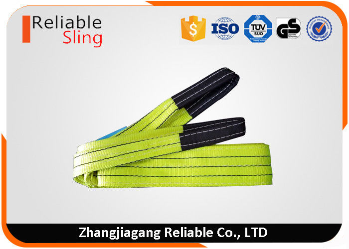 EN1492-1 3 ton Yellow Crane Lifting Belt Sling With Custom Logo