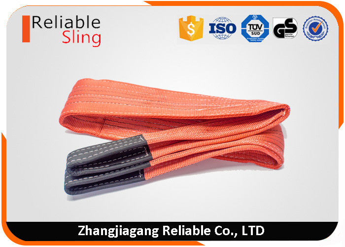 100% polyester low elongation color code belt type web slings for lifting 5 ton