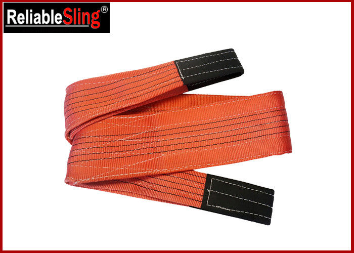 Polyester 5 Ton Eye Eye  Flat Webbing Sling 7 times Safety Factor Reinforced Eyes