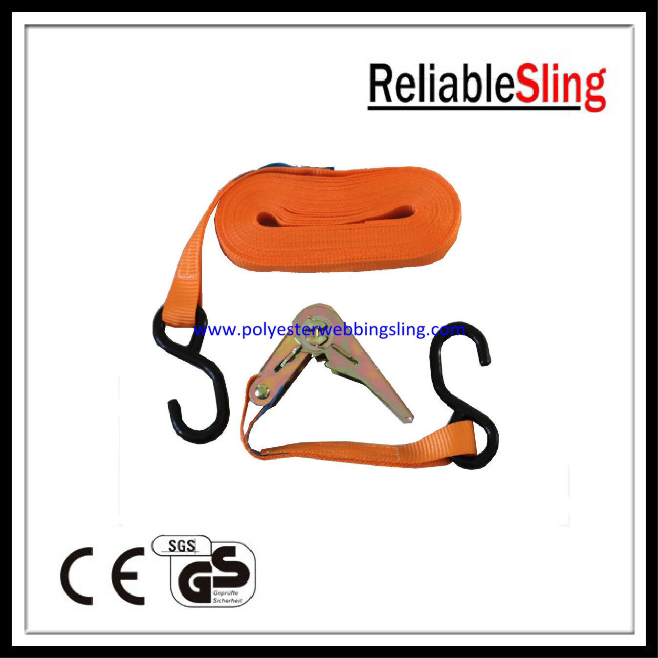 Mini Ratchet Tie Down Strap with S Hook , 800kg Tie Down Lashing